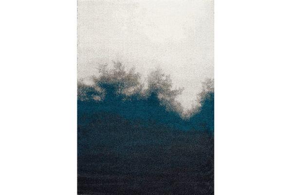 "Large image of Kalora Sable 7'10"" X 10'10"" Black Teal Transition Edge Rug - 8282/P301 240330"