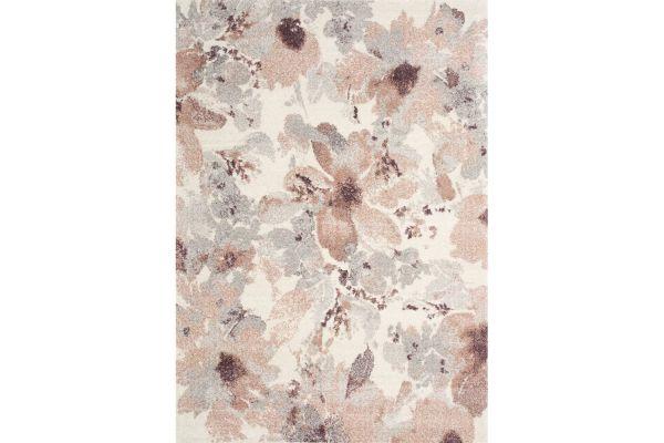 "Large image of Kalora Sable 7'10"" X 10'10"" Cream Grey Flowers Rug - 8289/T912 240330"