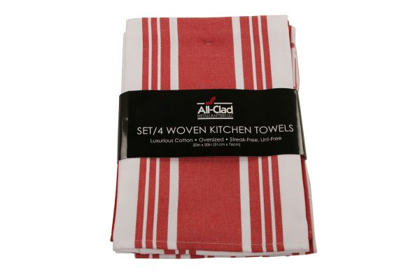 All-Clad Chili Set of 4 Woven Kitchen Towels  - 85022