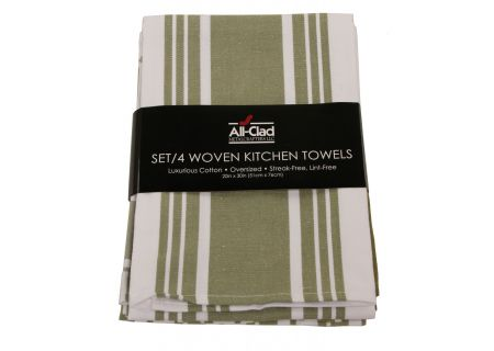 All-Clad Sage Set of 4 Woven Kitchen Towels  - 85051