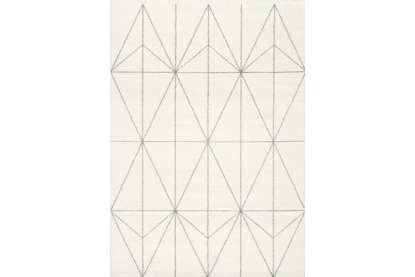 "Large image of Kalora Spring 6'7""x 9'6"" Cream Grey Geometric Lattice Rug - 8527/K914 200290"