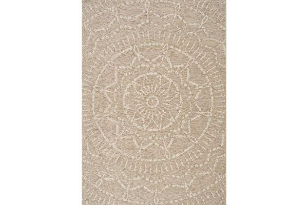"Large image of Kalora Vista 7'10"" X 10'10"" Beige Cream Intricate Suns Indoor/Outdoor Rug - 8578/H819 240330"