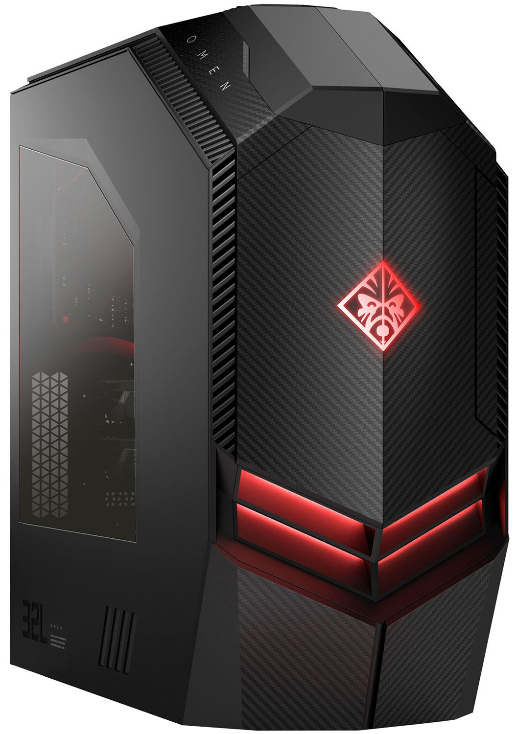 HP OMEN Black Gaming Desktop Computer Intel Core i7-9700K 16GB RAM 2TB HD +  512GB SSD, NVIDIA GeForce RTX 2080 8GB