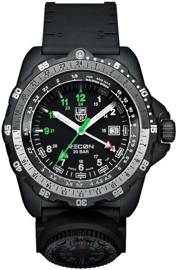 Luminox Recon Nav Spc 8830 Series Black Mens Watch 8832 Mi