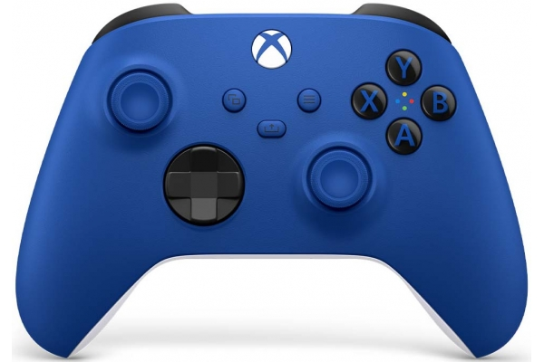 Large image of Microsoft Xbox Series X/S Shock Blue Wireless Controller - 889842613872