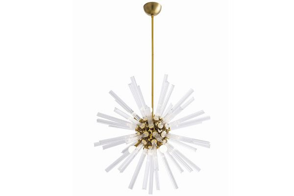 Large image of Arteriors Hanley Antique Brass Small Chandelier - 89011