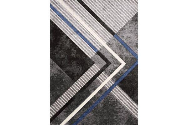 """Large image of Kalora Soho 5'3"""" X 7'7"""" Grey Black Blue Solid Point Rug - 8933/36 160230"""