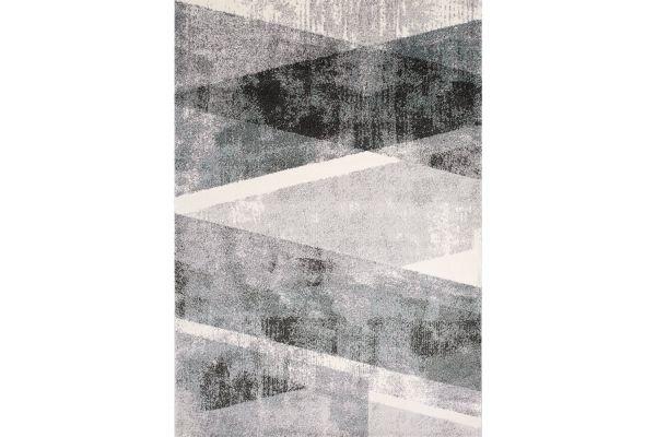 "Large image of Kalora Soho 7'10"" X 10'6"" Grey White Teal Back And Forth Rug - 8940/28 240320"