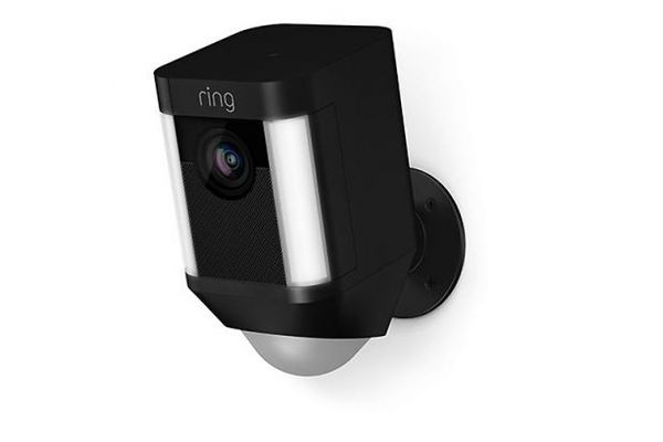 Ring Black Spotlight Cam Battery-Powered Security Camera - 8SB1S7-BEN0