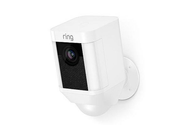 Large image of Ring White Spotlight Cam Battery-Powered Security Camera - 8SB1S7-WEN0