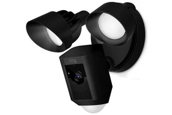 Large image of Ring Black Floodlight Cam Wired Security Camera - B0722R3WV5