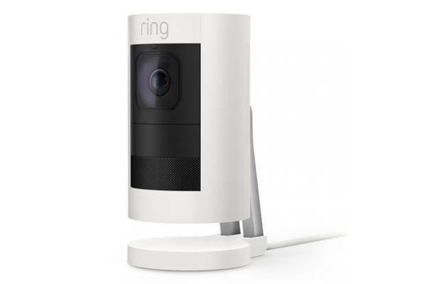 Ring White Stick Up Wired Camera - 8SS1E8-WEN0