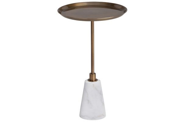 Large image of Arteriors Celeste Vintage Brass Accent Table - 9005