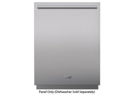 Cove 60cm Stainless Steel Dishwasher Panel With Tubular Handle - 9009547