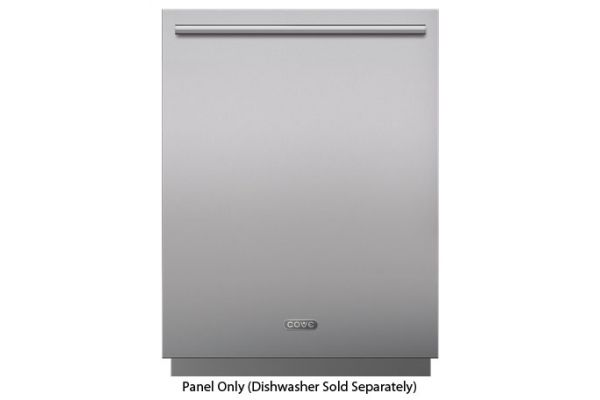 "Large image of Cove 6"" Toe Kick Stainless Steel Dishwasher Panel With Tubular Handle - 9009549"