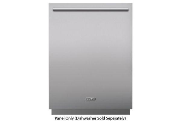 "Large image of Cove Stainless Steel Tubular Handle Dishwasher Panel With 6"" Toe Kick - 9019421"
