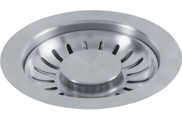 Large image of Franke Satin Nickel Waste Basket Strainer Plug - 906SN
