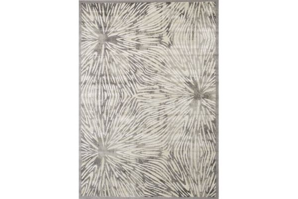 "Large image of Kalora Alaska 2'8"" X 4'11"" Grey White Rug - 9193/64 80150"