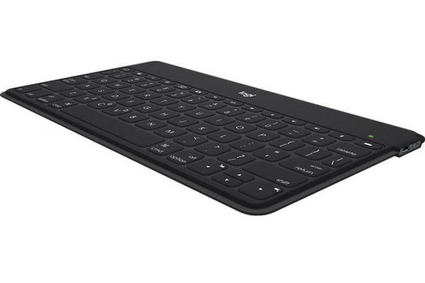 Large image of Logitech Keys-To-Go Standalone Black iOS Wireless Bluetooth Keyboard - 920-006701