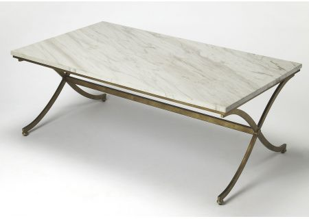 Butler Specialty Company Pamina Travertine Gold Coffee Table 9322355