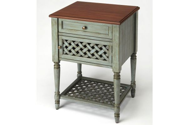 Large image of Butler Specialty Company Chadway Rustic Blue Nightstand - 9368286