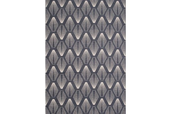 """Large image of Kalora Vista 5'3"""" X 7'7"""" Blue Cream Shell Shapes Indoor/Outdoor Rug - 9388/H831 160230"""