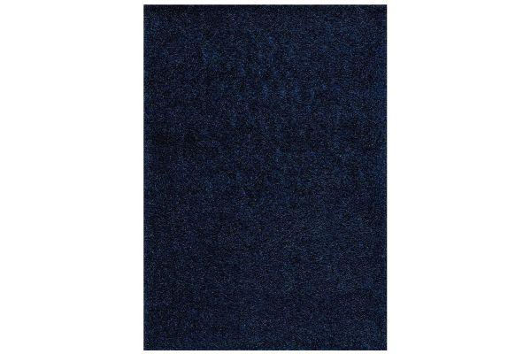 """Large image of Kalora Plateau 5'3"""" X 7'7"""" Blue Soft Shag Rug - 9998/0252 160230"""