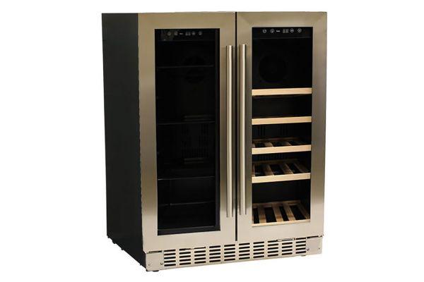 """Azure ADA 24"""" Stainless Steel Dual Zone Beverage/Wine Center - A124DZ-S"""