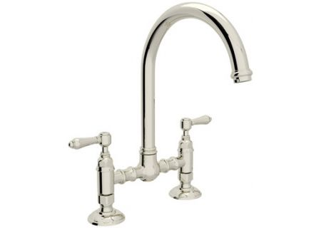 Rohl Polished Nickel Deck Mounted Country Kitchen Bridge Faucet - A1461LM/PN-2