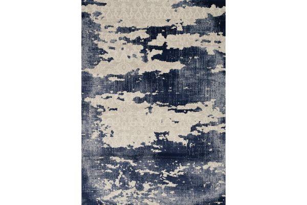 "Large image of Kalora Alida 8'0"" X 10'6"" Blue Cream Rug - A322/3737 244320"