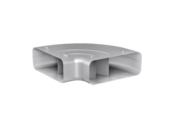 Large image of Gaggenau Flat Duct Bend 90 Degrees Horizontal DN 150 Flat Metal - AD854031