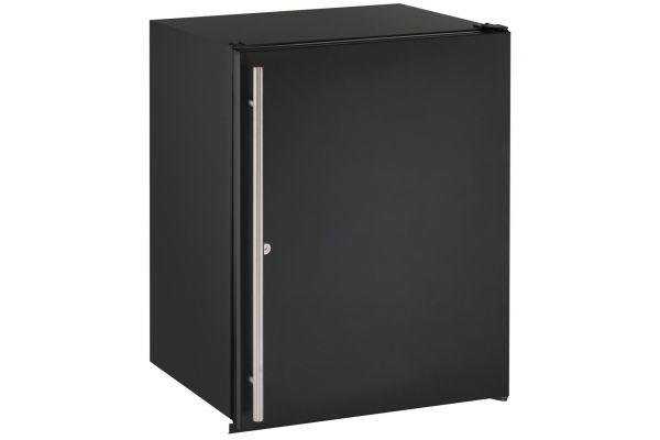 "Large image of U-Line 24"" Black Compact Refrigerator - U-ADA24RB-13B"