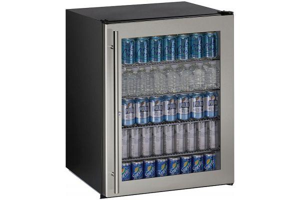 "Large image of U-Line 24"" Stainless Steel Compact Refrigerator - U-ADA24RGLS-13B"