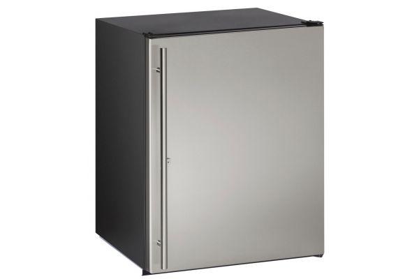 "Large image of U-Line 24"" Stainless Steel Compact Refrigerator - U-ADA24RS-13B"