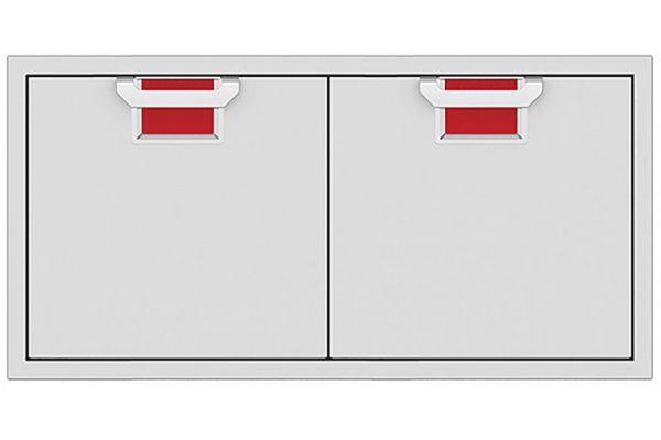 "Large image of Hestan Aspire 42"" Matador Outdoor Double Access Doors - AEAD42-RD"