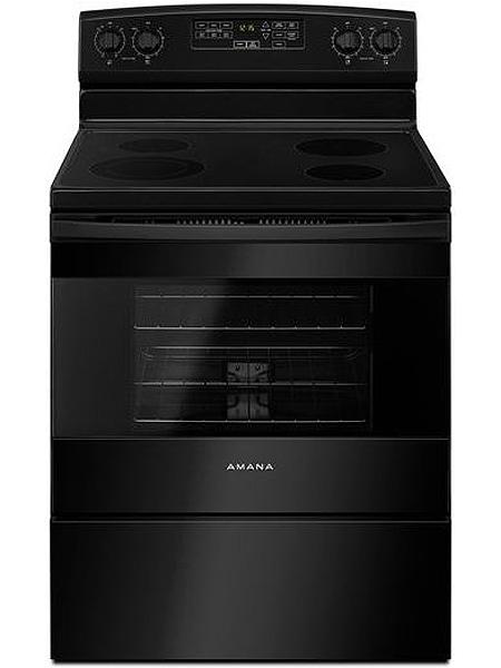 Amana 30 Quot Black Freestanding Electric Range Aer6603sfb