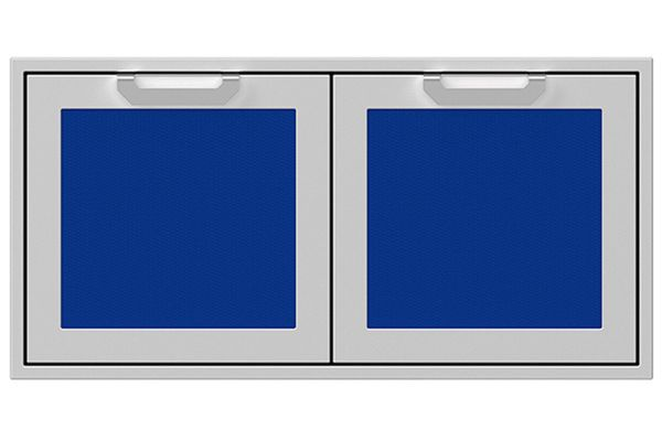 "Large image of Hestan 42"" Prince Outdoor Double Access Doors - AGAD42-BU"