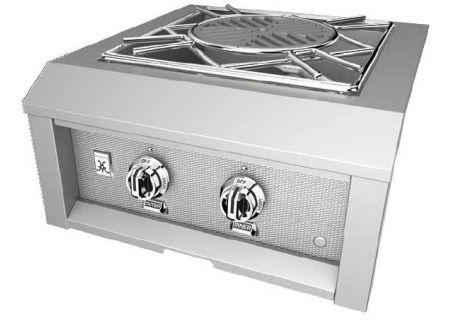 """Hestan 24"""" Stainless Steel Liquid Propane Built-In Power Side Burner - AGPB24-LP"""