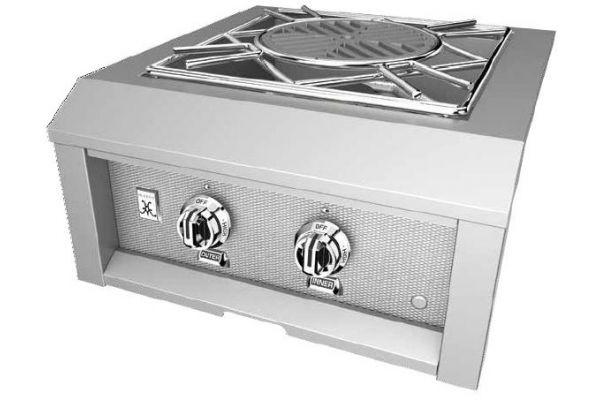 "Large image of Hestan 24"" Stainless Steel Liquid Propane Built-In Power Side Burner - AGPB24-LP"