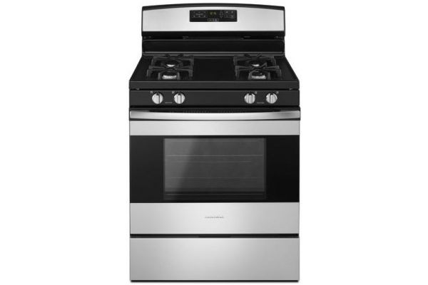 """Large image of Amana 30"""" Freestanding Stainless Steel Gas Range (Closeout) - AGR6303MFS"""