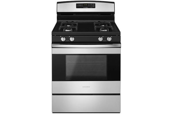 """Large image of Amana 30"""" Stainless Steel Freestanding Gas Range - AGR6603SFS"""