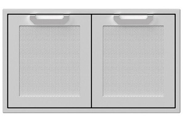 "Large image of Hestan 36"" Steeletto Outdoor Double Storage Doors - AGSD36"