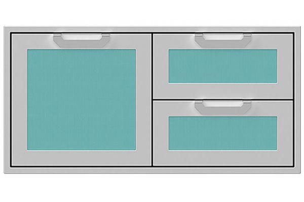 "Large image of Hestan 42"" Bora Bora Outdoor Combo Storage Door And Double Drawer - AGSDR42-TQ"