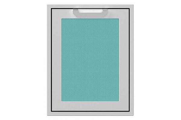 "Large image of Hestan 20"" Bora Bora Trash And Recycle Center Storage Drawer - AGTRC20-TQ"
