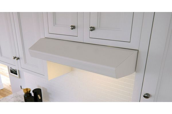 "Large image of Zephyr 36"" Breeze II Series White Wall Hood - AK1236BW"