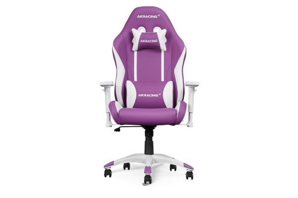 Large image of AKRacing California Napa Purple & White Gaming Chair - AK-CALIFORNIA-NAPA