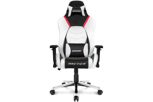 Large image of AKRacing Master Series Artica White Premium Gaming Chair - AK-PREMIUM-ARCTICA