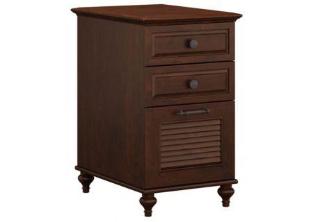 Bush Furniture Coastal Cherry Volcano Dusk 3 Drawer File Cabinet - ALA010CC