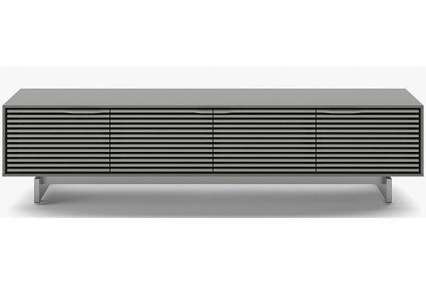 Large image of BDI Align Fog Grey Quad Media Low Cabinet - 7473 ME-FOG