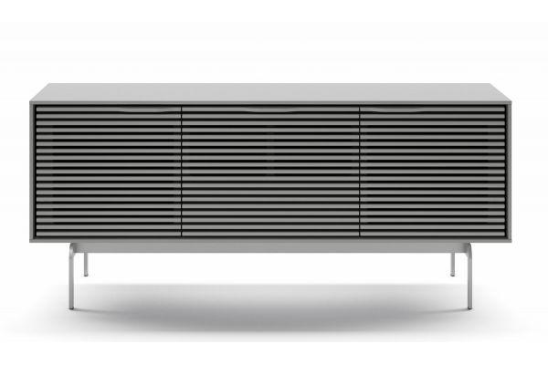 Large image of BDI Align Fog Grey Triple Console Cabinet - 7477 CO-FOG
